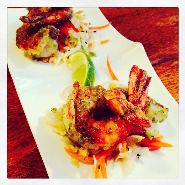 Wasabi Pea Encrusted Shrimp - Modis, Breckenridge, CO