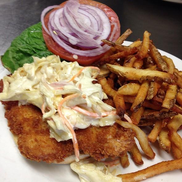 Breaded Pork Tenderloin Sandwich - One Eleven Main, Galena, IL
