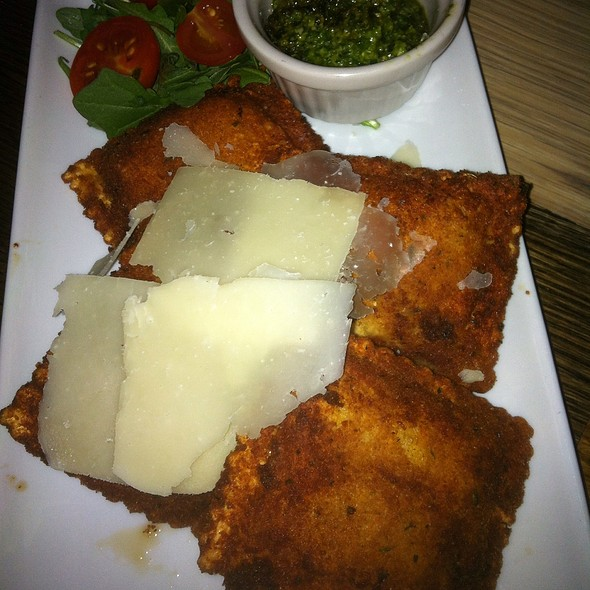 Artichoke Toasted Ravioli And Pesto @ Katie's Pizza & Pasta