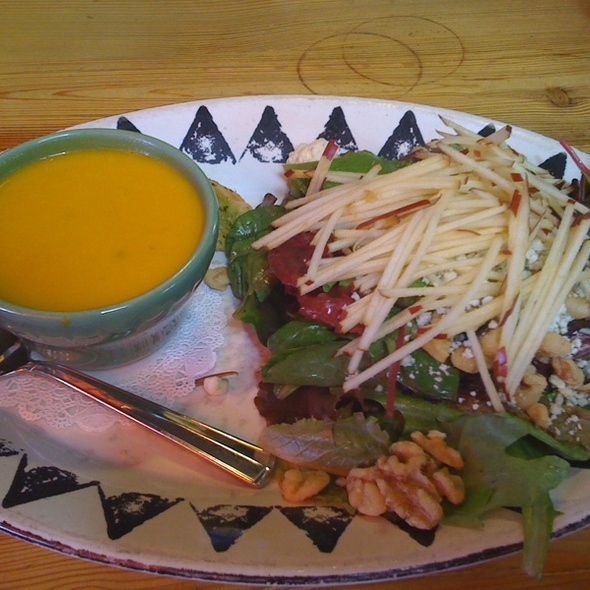 Apple Walnut Salad And Jalepeno Carrot Soup - Painted Pony, St. George, UT