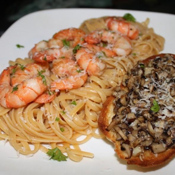 Shrimp Scampi and Mushroom Crustini