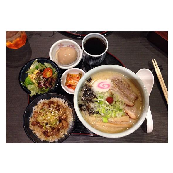Shio Ramen and Char Siu Rice Set @ Hokkaido Ramen Santouka