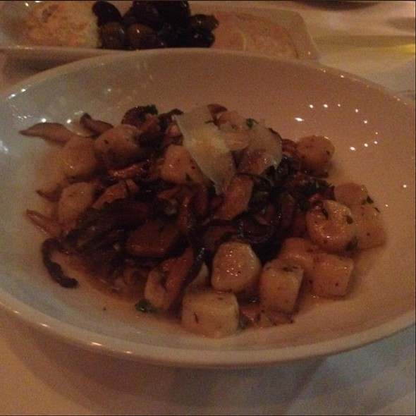 Home made potato gnocchi, three cheese sauce, sauteed wild mushrooms - Davio's - Philadelphia, Philadelphia, PA