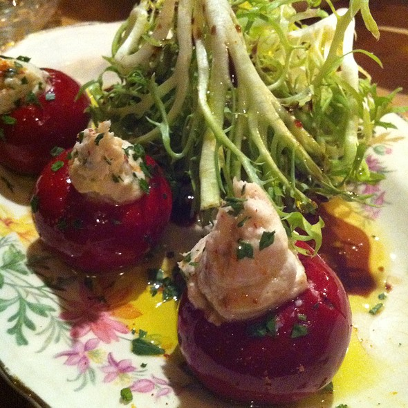 Smoked Trout Stuffed Pickled Pepper @ Tannery Bar