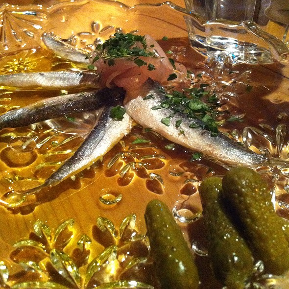 Anchovie Fillets With Pickled Shallot @ Tannery Bar