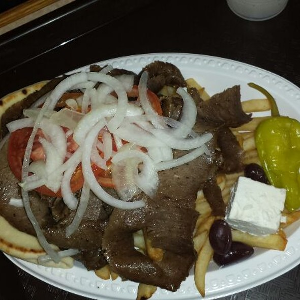 Gyros with fries and Tsatziki