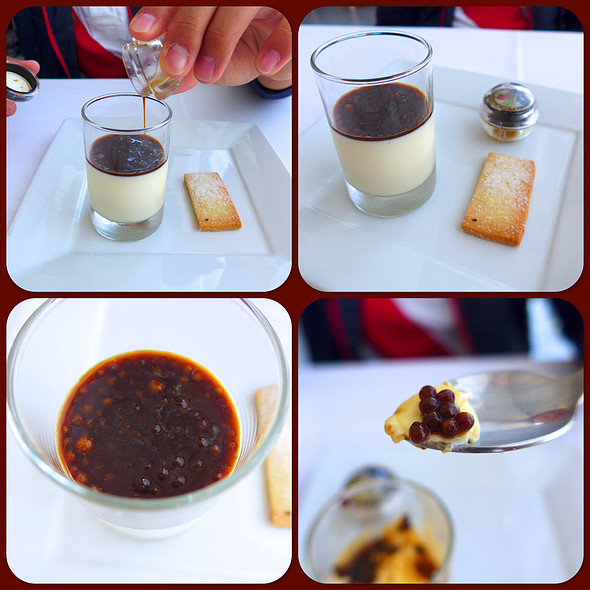 Vanilla Panna Cotta with Espresso Caviar - Petrossian Paris Boutique & Restaurant, West Hollywood, CA