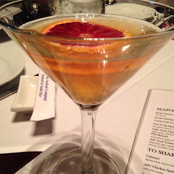 Blood Orange Martini - Atlantic Seafood Company, Alpharetta, GA