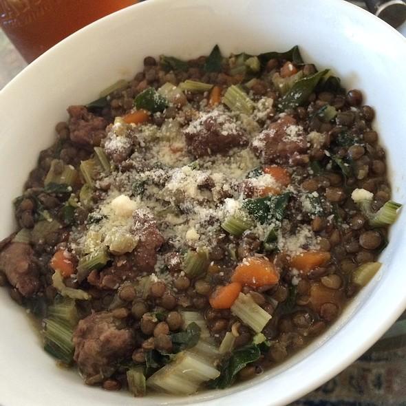 Sausage Lentil Soup @ Home