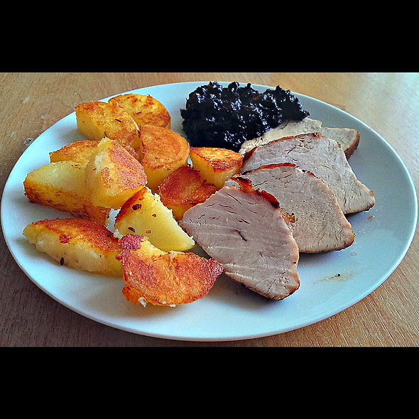 Roasted Duck Breast With Baked Potatoes And Plum Sauce @ Home @ Martin