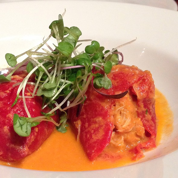 ... Roasted Piquillo Peppers Stuffed With Local Dungeness Crab Meat at B44