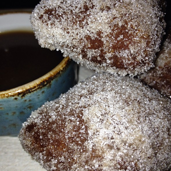 Apple Cider Doughnuts With Whiskey Caramel - Carriage House, Chicago, IL