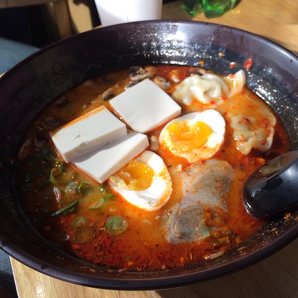 Spicy Miso Ramen With Egg And Dumplings @ Ramen Underground