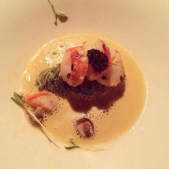 Poached Boston Lobster On Wakame Linguine @ Mozaic Fine Dining Restaurant and Lounge