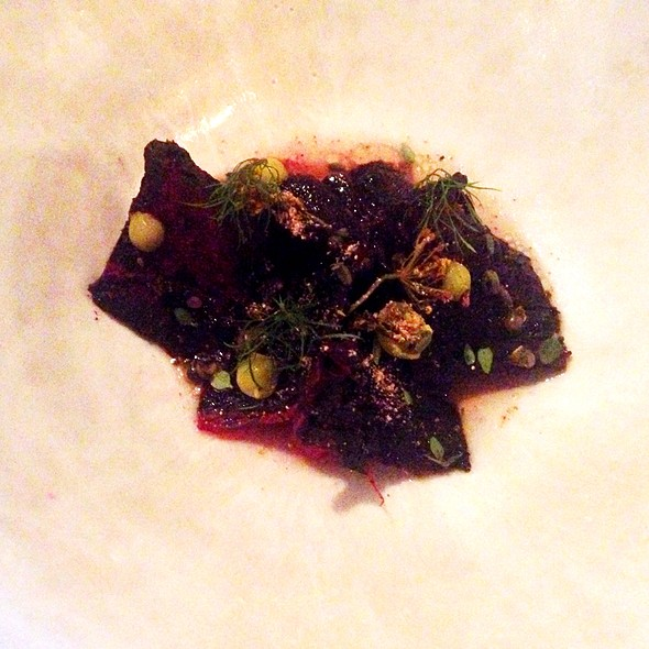 Dried beetroot (desert) @ Noma