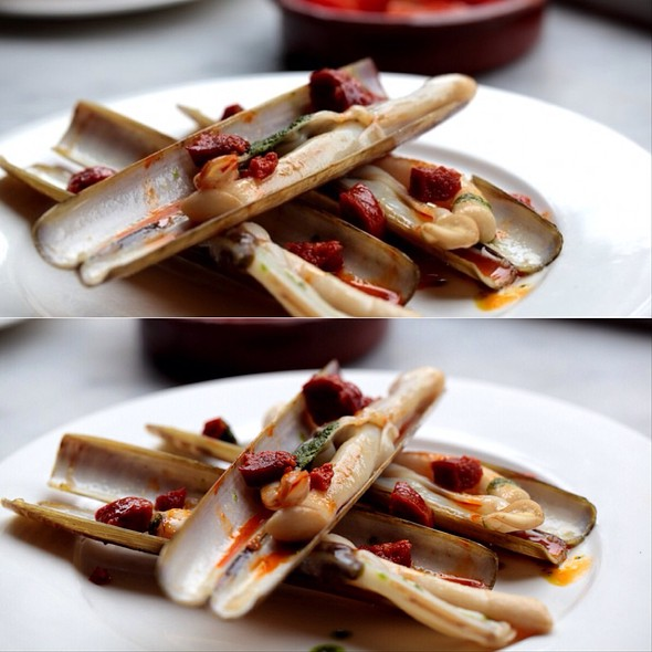 razor clams @ Pizarro