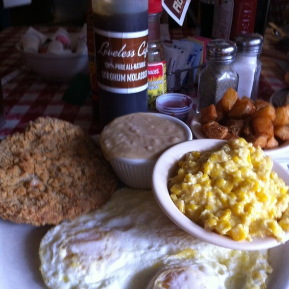 Country Fried Steak & Eggs @ Loveless Cafe