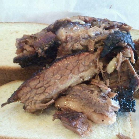 Butcher Paper Sandwich @ Porky's BBQ