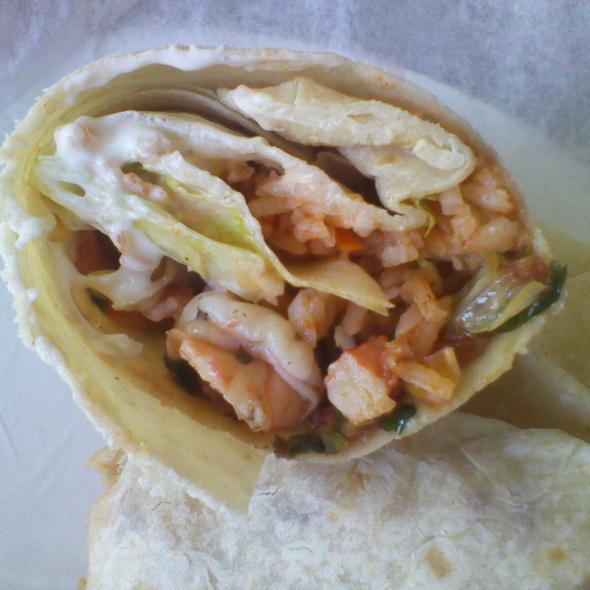 Shrimp Burrito @ Tio Alberto Taco Shop Mariscos
