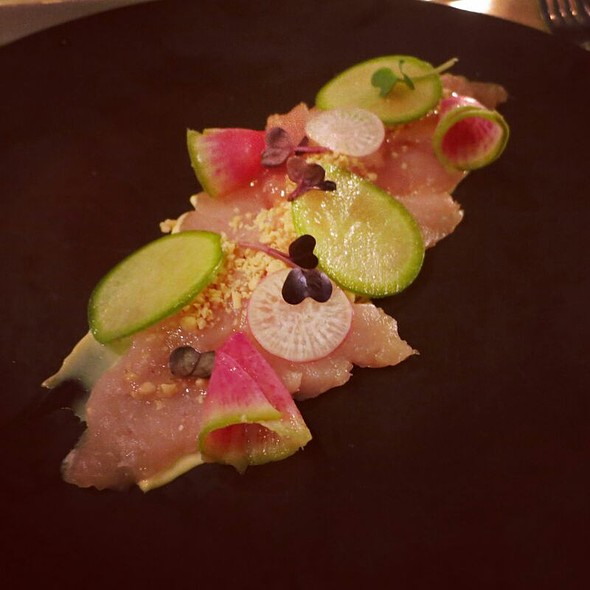 Albacore Tuna Crudo @ Hudson Kitchen