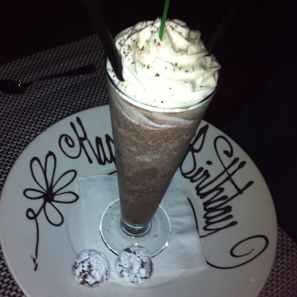 Frozen Hot Chocolate @ Stark's Steakhouse