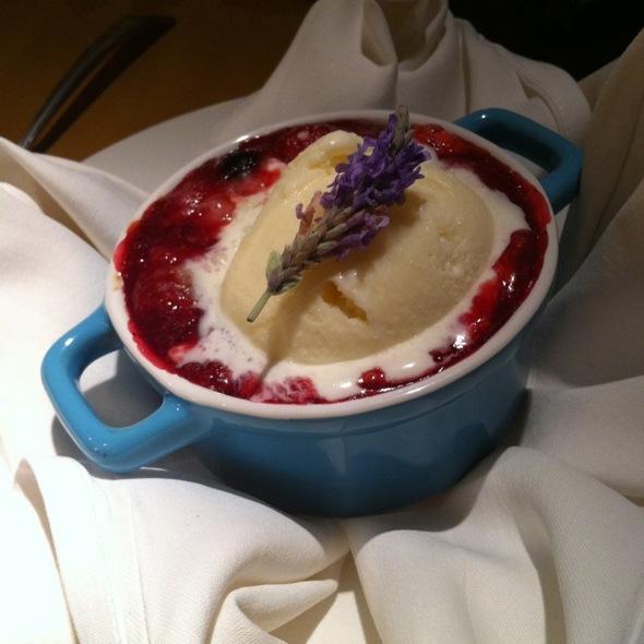 Winter Berry Cobbler @ Napa Restaurant