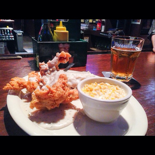 Chicken Fried Chicken, Creamed Corn, Mashed Potatoes And Gravy @ Hibernia Irish Tavern