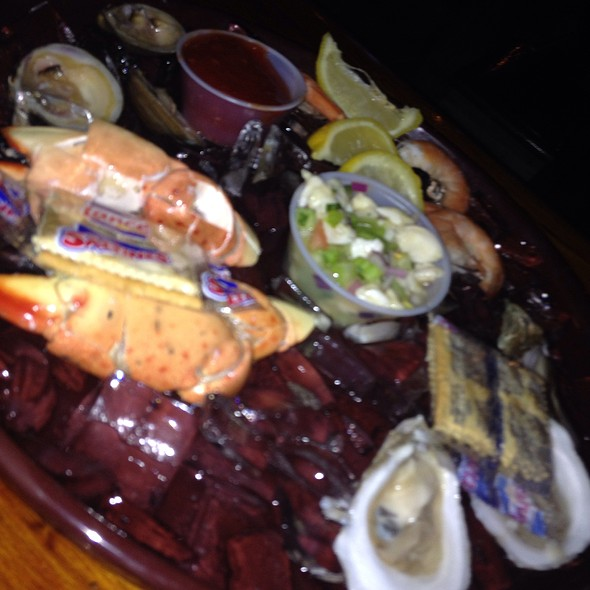 Raw Bar Platter @ Montys Fish and Stone Crab Restaurants