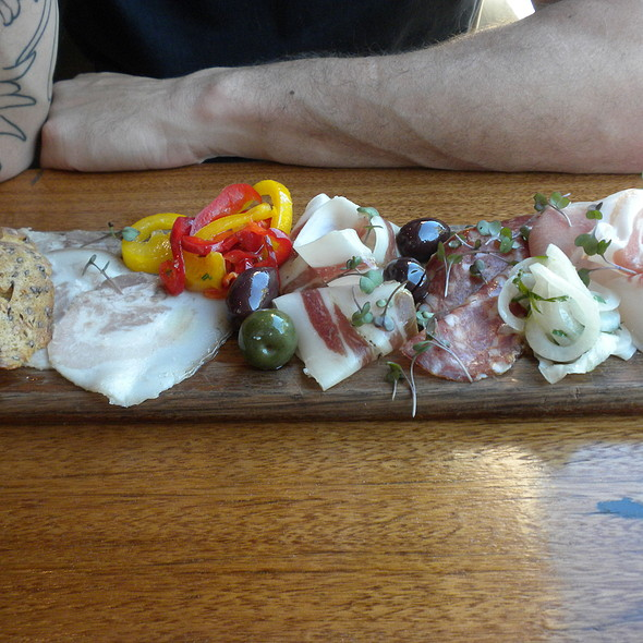 small goods tasting plate