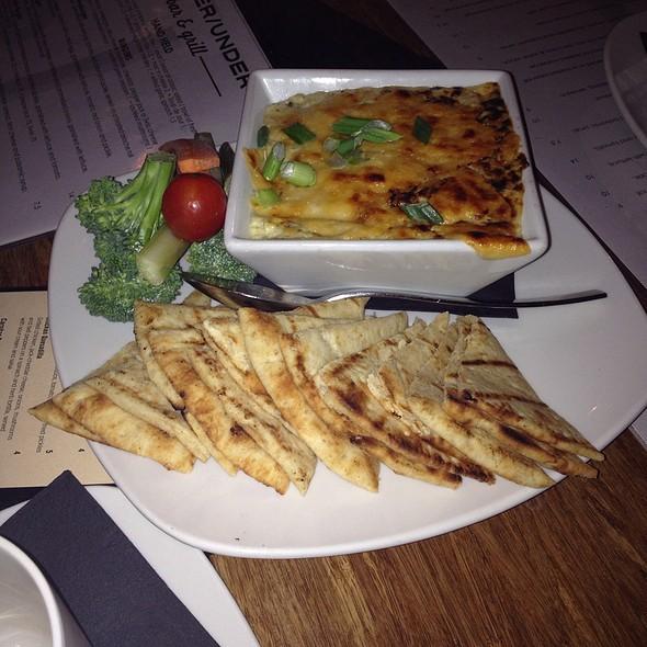 Artichoke-Spinach Fondue @ The Over/Under Sports Bar