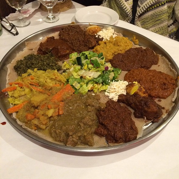 Meat And Veggie Messob - Demera Ethiopian Restaurant, Chicago, IL