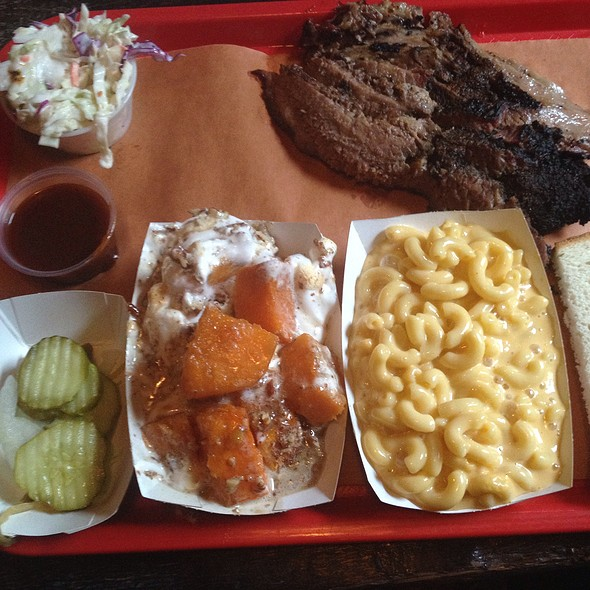Beef Brisket, Mac N Cheese And Candied Yams