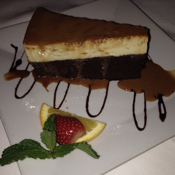 Flan And Chocolate Cake - Tequila's Restaurant, Philadelphia, PA