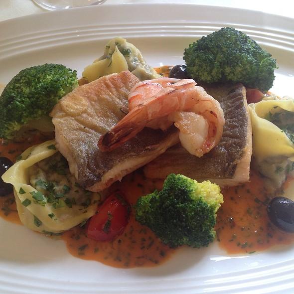 Grilled Hallstättersee Saibling Fish With Prawns @ Landgasthof zur Nocken Toni