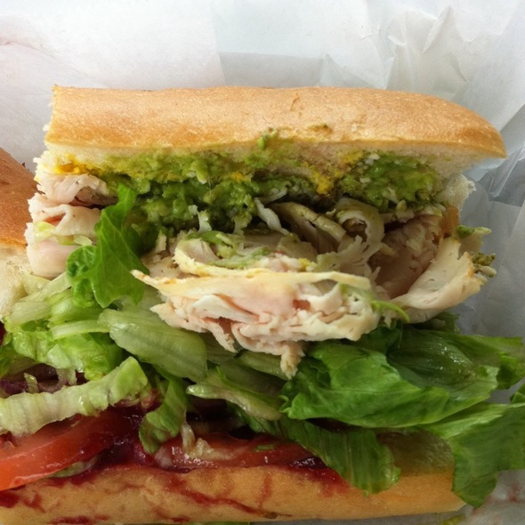 Roast Turkey, Cranberry, Pesto, Avacado