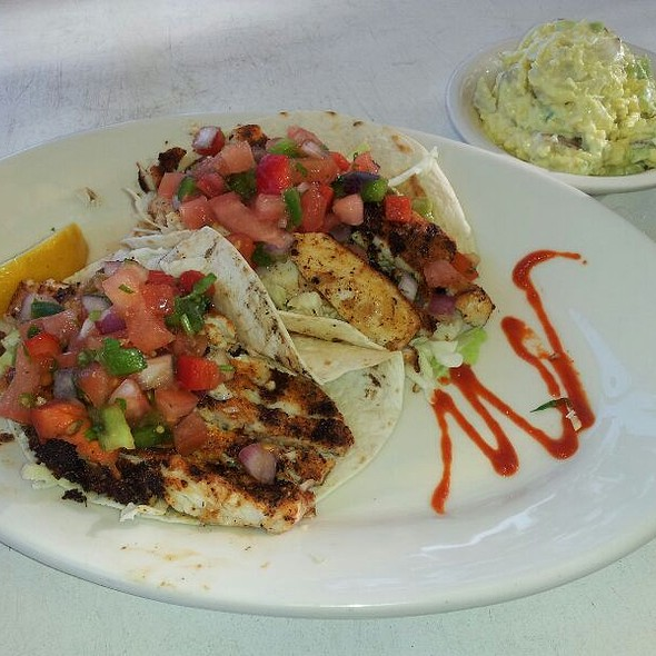 Blackened Mahi Fish Taco with Potato Salad