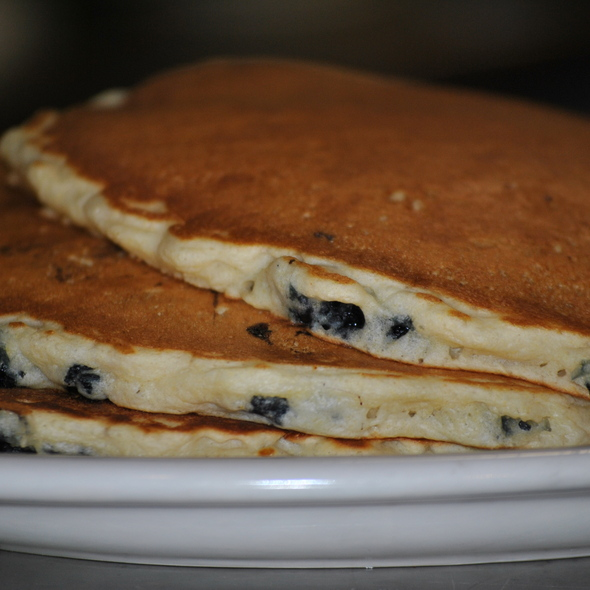 Blueberry Pancakes @ Plato's Coney Island