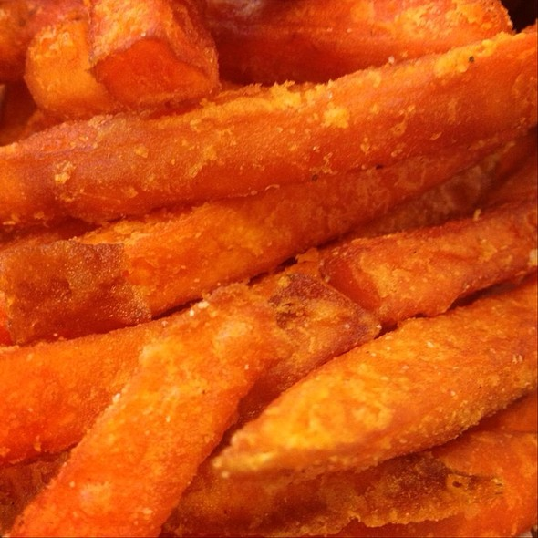 Sweet potato chips @ Perkup Expresso Bar