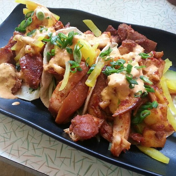 HRD Korean Pineapple Tacos With Chicken @ HRD Coffee Shop