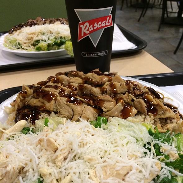Chicken Deluxe Plate @ Rascals Teriyaki Grill