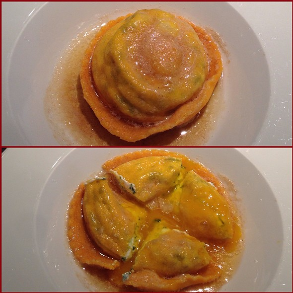 """""""Uovo"""" Soft Egg Yolk Filled Raviolo With Truffled Butter @ SD26"""