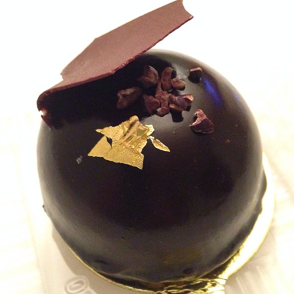 Valrhona Chocolate and Grand Marnier Dome @ Fendu Boulangerie