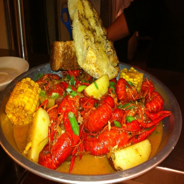 Boiled crawfish @ Bess Bistro on Pecan