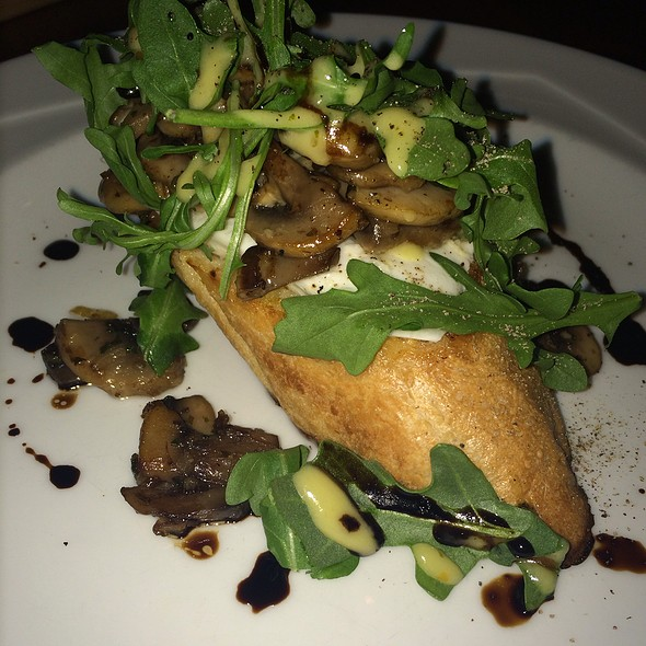 Mushroom Burrata Toast @ Newport A Gastropub