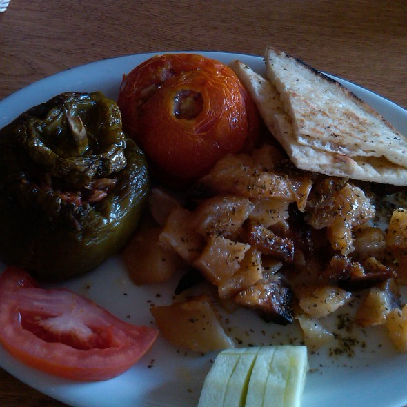 Stuffed Peppers And Tomatoes @ my little fat greek restaurant