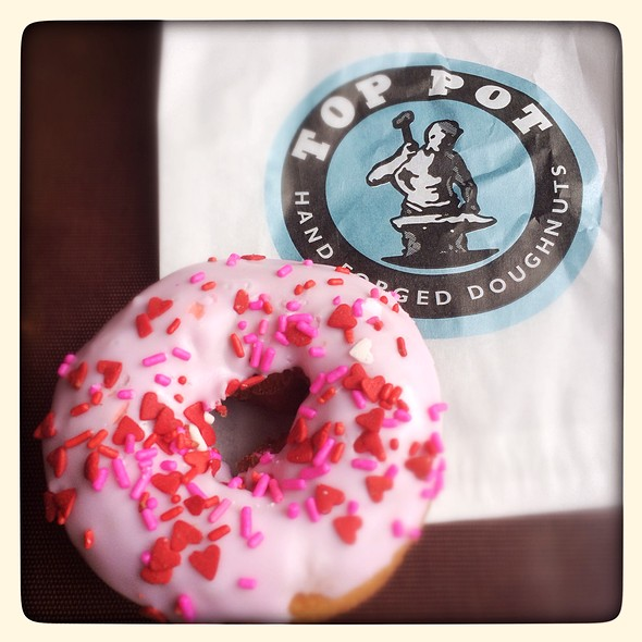 Valentine Donuts @ Top Pots Doughnuts