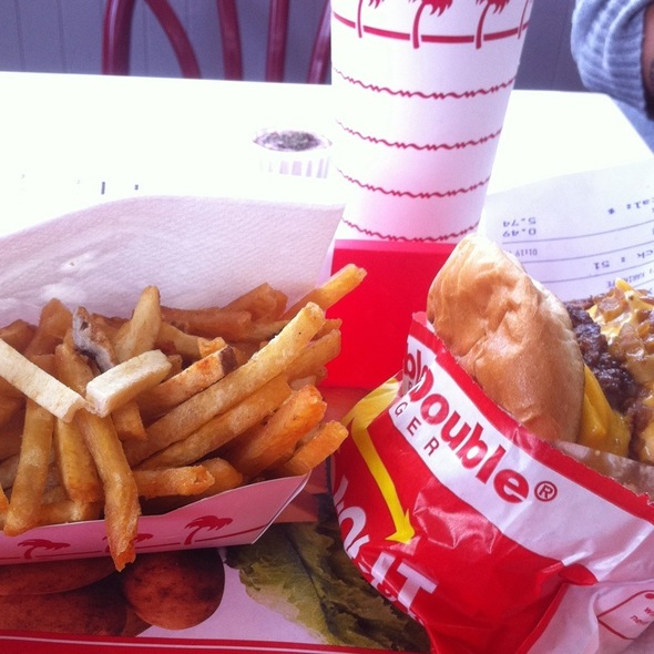 2X4 Animal Style With Extra Toast Buns. Well Done Fries @ In-N-Out Burger