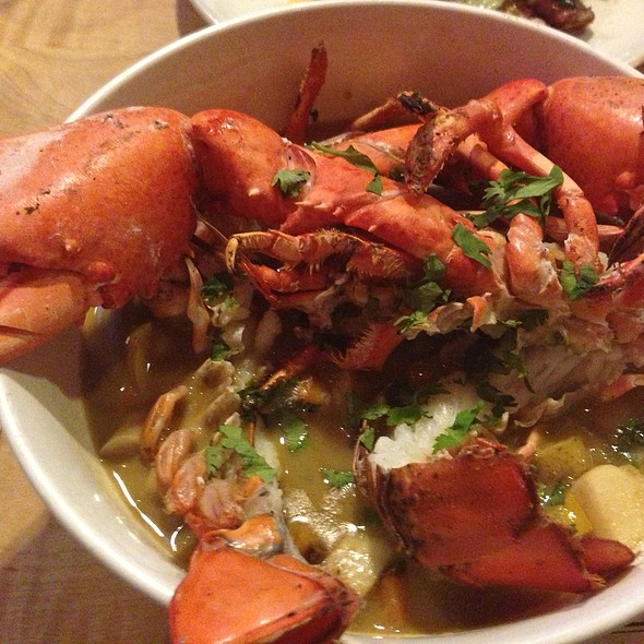 Grilled Lobster in an Island Curry Sauce @ Back Forty West