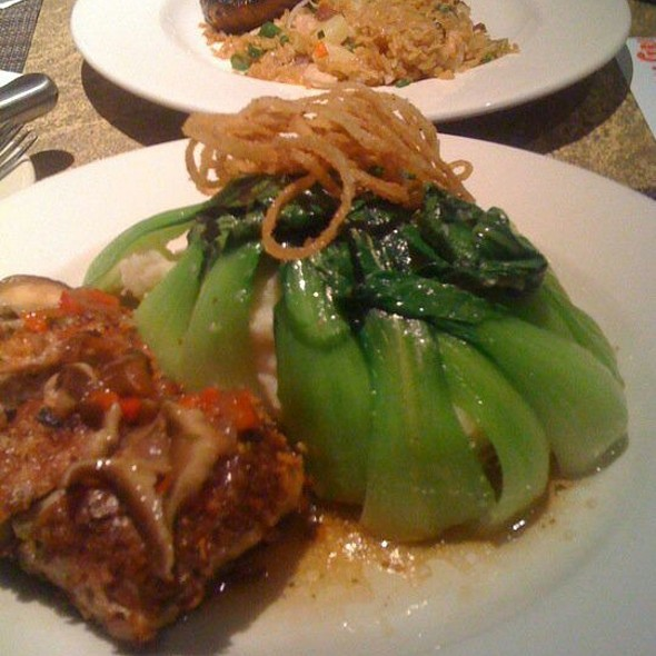 Pork Sirloin Steak, Mashed Potatoes Under Simmered Bok Choy - Kona Grill - Baton Rouge, Baton Rouge, LA