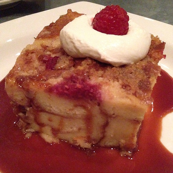 Raspberry White Chocolate Bread Pudding @ Liberty Kitchen & Oyster Bar